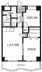 セレーネ久保田[703号室]の間取り
