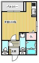 アマポーラ清江[103号室]の間取り