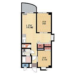 ニューバリヤハイツ3階Fの間取り画像