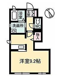 高松琴平電気鉄道琴平線 太田駅 徒歩5分の賃貸アパート 1階1Kの間取り