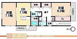 愛知県名古屋市南区前浜通6丁目の賃貸アパートの間取り