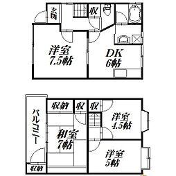 [テラスハウス] 静岡県浜松市南区三和町 の賃貸【/】の間取り