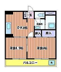 ニューグリーンコーポ[2階]の間取り