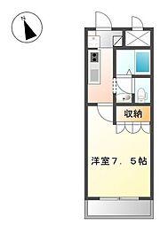 サンハイツオクヤマII[1階]の間取り