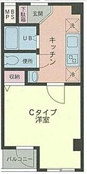 東京都荒川区荒川4丁目の賃貸マンションの間取り