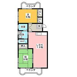 コルディアーレI[3階]の間取り