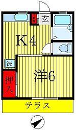 プランドール松戸[1階]の間取り