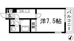 大阪府池田市石橋1丁目の賃貸マンションの間取り