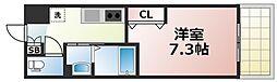 Osaka Metro千日前線 今里駅 徒歩5分の賃貸マンション 6階1Kの間取り