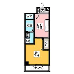 シャトーみずほ[2階]の間取り