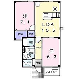 [大東建託]メゾン・サンバティーク (十和田市)[1階]の間取り