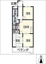 シャトースサキI[2階]の間取り