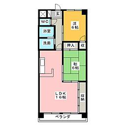 サンライズ伊東 弐番館[7階]の間取り