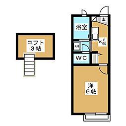 アムールSERI[2階]の間取り