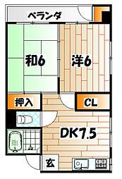 重松ビル[3階]の間取り