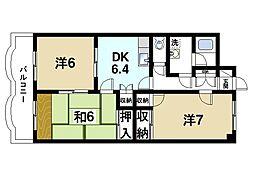 グラン・シャリオ二階堂[7階]の間取り
