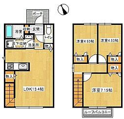 [一戸建] 福岡県福岡市中央区谷2丁目 の賃貸【/】の間取り