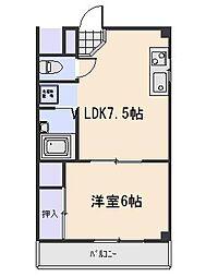 広島県広島市西区高須2丁目の賃貸マンションの間取り