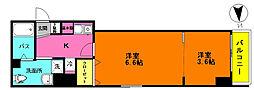 JR京浜東北・根岸線 大宮駅 徒歩7分の賃貸マンション 3階1LKの間取り