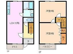メゾンKOMAKI[1階]の間取り