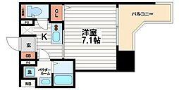 大阪府大阪市中央区大手通2丁目の賃貸マンションの間取り