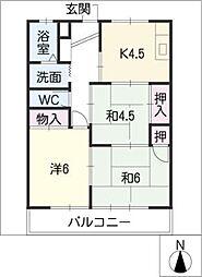セゾンKOBAYASHI[2階]の間取り