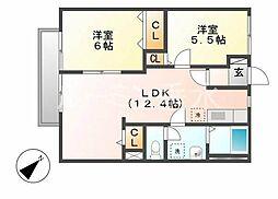 シティシャトレ[2階]の間取り