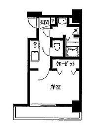 グリフィン横浜・ルミエール[4階]の間取り