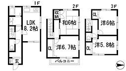 [テラスハウス] 兵庫県川西市西多田2丁目 の賃貸【/】の間取り
