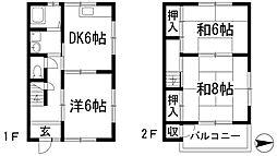 [テラスハウス] 兵庫県川西市小花1丁目 の賃貸【/】の間取り