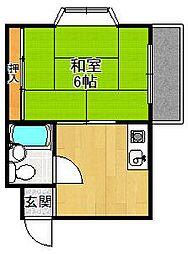 グレイスマンション1番館[304号室]の間取り