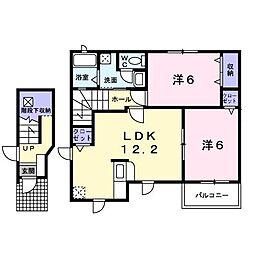 ローバスト・レジデンスA[0201号室]の間取り