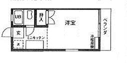 ロワール実籾[206号室]の間取り