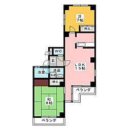 シルク壱番館[2階]の間取り