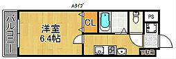 オズレジデンス天下茶屋[7階]の間取り