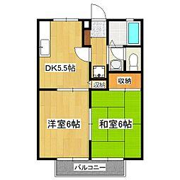 グランシャリオD棟[2階]の間取り