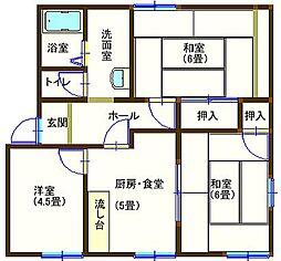 ラフォーレ八幡3 105号室[1階]の間取り