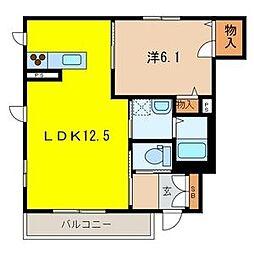 マンション鷹の巣 E棟[1階]の間取り
