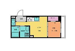 名古屋市営名城線 自由ヶ丘駅 徒歩4分の賃貸マンション 3階1DKの間取り