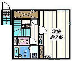 東京都江戸川区大杉4丁目の賃貸アパートの間取り
