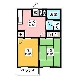 カーサTII[2階]の間取り