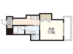広島電鉄1系統 御幸橋駅 徒歩19分の賃貸アパート 2階1Kの間取り