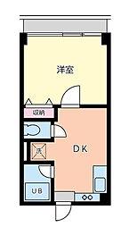 東京都品川区小山2丁目の賃貸マンションの間取り