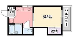 兵庫県西宮市伏原町の賃貸アパートの間取り