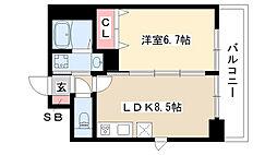 愛知県名古屋市瑞穂区弥富通3丁目の賃貸マンションの間取り