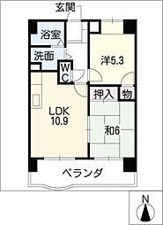 コスモII[7階]の間取り