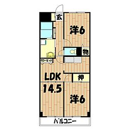 ロードプラザITO[405号室]の間取り