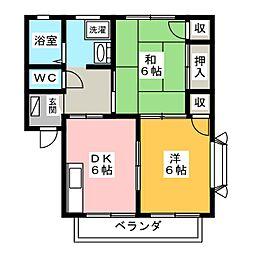 サンピュアみずほA・B[1階]の間取り
