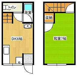 第1水野アパート[5号室]の間取り