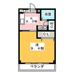 グリーンコート平田[2階]の間取り
